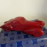 Bugatti Style 1930 Faience de Desvres longueur 36,5cm hauteur 10 cm ,signe , couleur Bordeaux