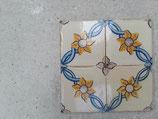 Lot de 4 Anciens Carreaux Faience Azulejos 14cm ×14 cm Déco