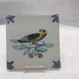 Carreau Oiseau Faience de Desvres 13×13cm numéro  12