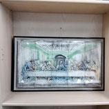 Fresque Biblique Faience de Desvres Léonard De  Vinci Longueur 66cm Hauteur 37 cm