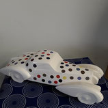 Bugatti Style année 1930 Faience de Desvres longueur 36,5 cm hauteur 10 cm , signe , couleur originale avec ses pois !