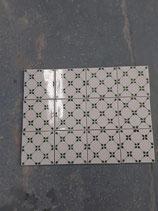 Lot de 12 carreaux Faience de Desvres vert et Blanc dimensions 13cm×13cm épaisseur 1cm