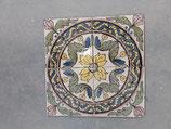 4 Carreaux Anciens Faience  Azulejoz 14 cm ×14cm réf AB17