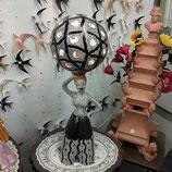 lampe art deco craquele eclairage intérieur hauteur 70 cm