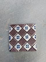 Carreau Ancien Desvres dimensions 11 cm ×11 cm référence 0015