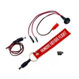 Elektronisches Schalter/Stecksystem für Empfängerbatterie mit Ladefunktion