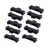 10 x Sicherungsclip (schwarz) für Servostecker Graupner/Futaba Servosicherung Servo