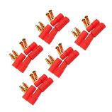 5 Paar (10 Stück) HTX Stecker vergoldet 3,5mm Akku Lipo Gehäuse