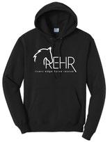 Black REHR Logo Hoodie