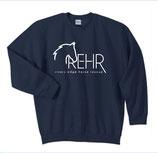 Navy REHR Logo Crew Sweatshirt