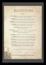 3607: Die Resolution für Männer (gerahmt)