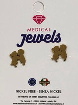MEDICAL JEWELS ORECCHINI KIDS ORO