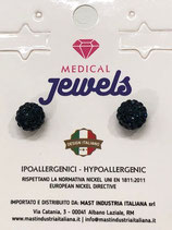 MEDICAL JEWELS ORECCHINI 42 SFERA MONTANA 8MM