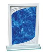 Placa Metacrilato con pedestal Agnes Azur para Reconocimiento - Premio