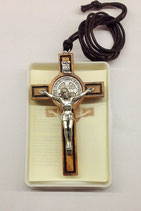Croce di San Benedetto in legno d'ulivo H7 Mod.1