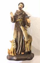San Francesco in pasta di legno