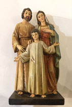 Sacra Famiglia in pasta di legno