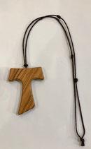 Tau in legno d'ulivo, croce di San Francesco di Assisi Mod. MAXI