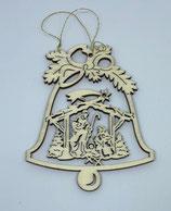 Addobbi Natalizi Sacra Famiglia su campana