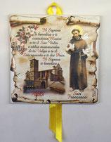 Piastrella in ceramica da parete San Francesco Il Signore ti Benedica