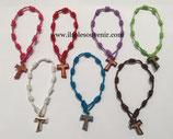 Bracciale francescano con Tau colorato