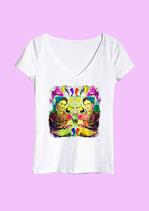Camiseta Dos Fridas, homenaje a Frida Kalho