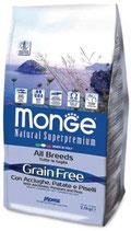 Grain Free con Acciughe, Patate e Piselli – All Breeds  Formato: 2,5 kg - 12 kg