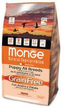 Grain Free con Anatra e Patate – All Breeds Puppy  Formato: 2,5 kg