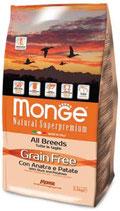 Grain Free con Anatra e Patate – All Breeds  Formato: 2,5 kg - 12kg