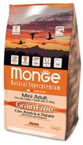 Grain Free con Anatra e Patate – Mini Adult  Formato: 2,5 kg