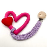 Makramee-Befestigungskette Herz mit Clip