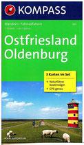 Kompass-Karte Ostfriesland - Oldenburg (3er Kartenset) 1 : 50.000)