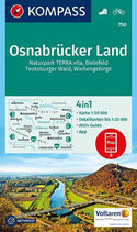 Kompass-Wanderkarte Osnabrücker Land