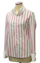 オリジナルプリントシャツ「ローズストライプ・ピンク」