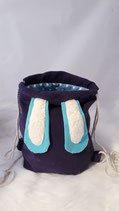 Hasenruck-sack lila, blaue Ohren