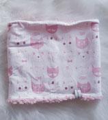 Loop Größe2, Katzen rosa-weiß