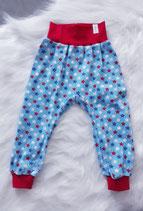 Gr. 92 bunte Sterne (weiß, blau, rot) (lH)