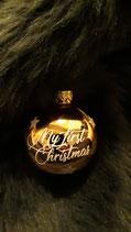 """Kugel rosé glänzend """"My first christmas"""""""