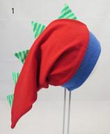 Gr. 42-44, rot, grüne Zacken (DH)