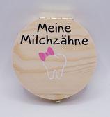 Milchzahnbox rosa Schleife
