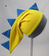 Gr. 45-47, gelb, blaue Streifen (DH)