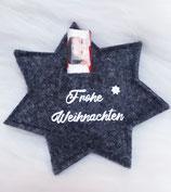 """Geschenkstern """"Frohe Weihnachten"""""""