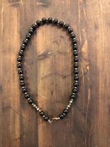 B&B Design Kette Perlenkette black