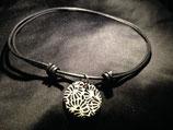 Talavera Halskette schwarz mit blumen (rund: 3cm)