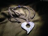 Talavera Halskette blau (Herz 6.5x6.5cm)