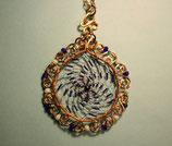 DI-04 Mandala Halskette Blau