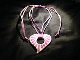 Talavera Halskette violett (Herz 6.5x6.5cm)