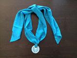 Talavera Halskette hellblau mit Schalband (rund: 5cm)