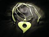 Talavera Halskette grün (Herz 6.5x6.5cm)