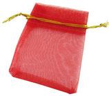 Organzasäckli rot mit goldenem Rand
